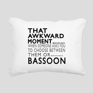 Bassoon Awkward Moment D Rectangular Canvas Pillow