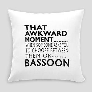Bassoon Awkward Moment Designs Everyday Pillow
