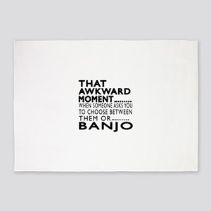 Banjo Awkward Moment Designs 5'x7'Area Rug