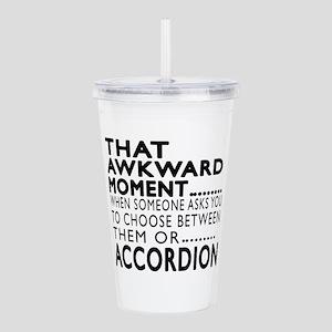 Accordion Awkward Mome Acrylic Double-wall Tumbler