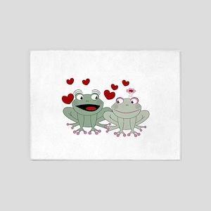 Frog couple love 5'x7'Area Rug