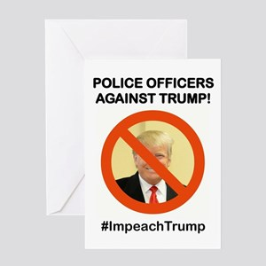 POLICE OFFICERS AGAINST TRUMP Greeting Cards