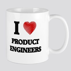 I love Product Engineers (Heart made from wor Mugs