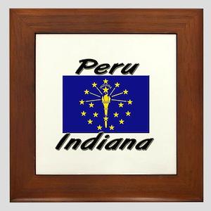 Peru Indiana Framed Tile
