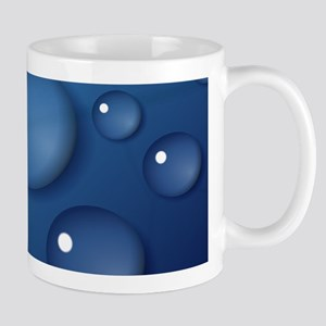 Blue Waterdrop Texture Mugs