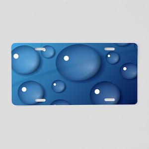 Blue Waterdrop Texture Aluminum License Plate