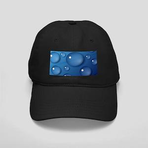 Blue Waterdrop Texture Black Cap