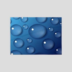 Blue Waterdrop Texture 5'x7'Area Rug