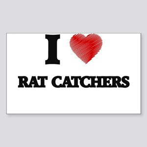 I love Rat Catchers (Heart made from words Sticker