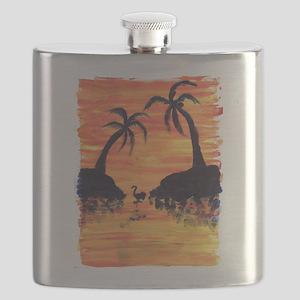 EelKat's Flamingo Sunset Flask