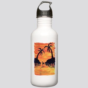 EelKat's Flamingo Suns Stainless Water Bottle 1.0L
