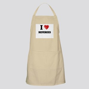 I love Referees (Heart made from words) Apron