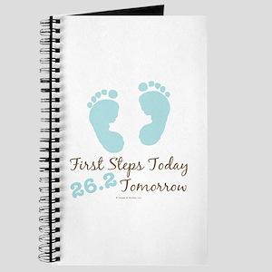 Blue Baby Footprints 26.2 Marathon Journal