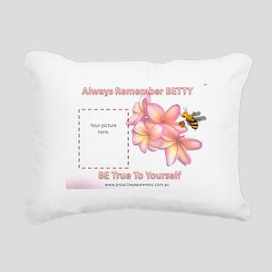 Always Remember BETTY 2 Rectangular Canvas Pillow