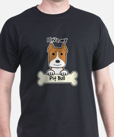 Cute Pit bull cartoon T-Shirt