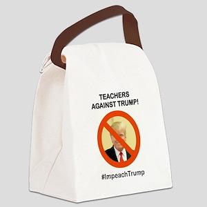 TEACHERS AGAINST TRUMP Canvas Lunch Bag