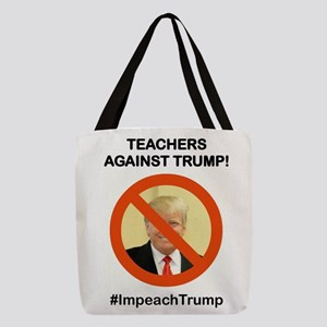 TEACHERS AGAINST TRUMP Polyester Tote Bag