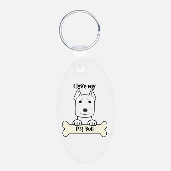 Cool Pit bull mom Keychains