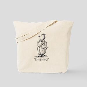 Hercule Purr-ot, Cat Detective Tote Bag