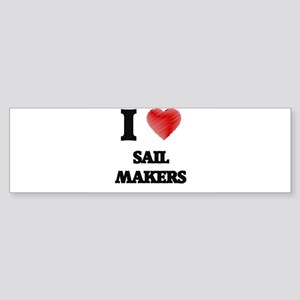 I love Sail Makers (Heart made from Bumper Sticker