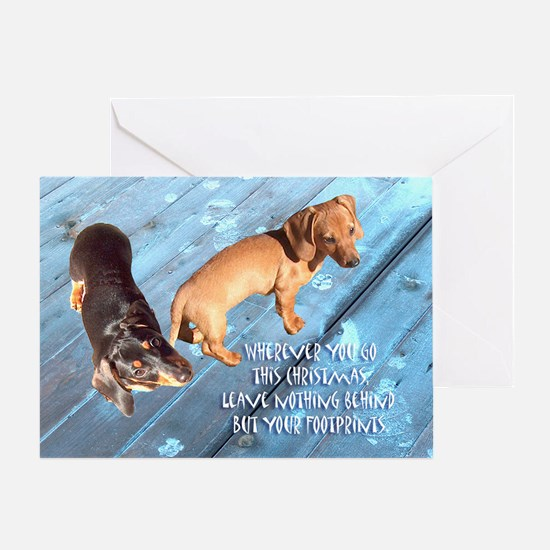 Go This Christmas Dachshunds Greeting Card
