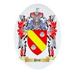 Peat Oval Ornament