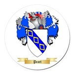 Peart Round Car Magnet