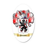 Pearpont Oval Car Magnet