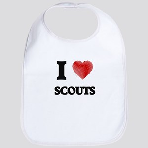 I love Scouts (Heart made from words) Bib