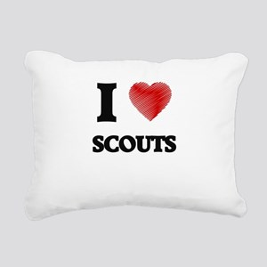 I love Scouts (Heart mad Rectangular Canvas Pillow