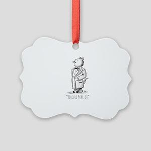 Hercule Purr-ot, Cat Detective Picture Ornament