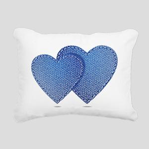 Blue Jeans love Rectangular Canvas Pillow