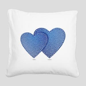 Blue Jeans love Square Canvas Pillow