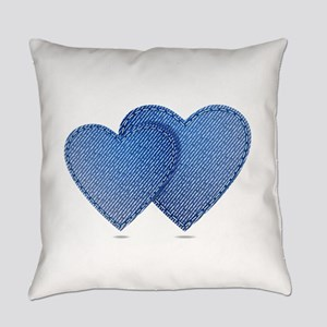 Blue Jeans love Everyday Pillow