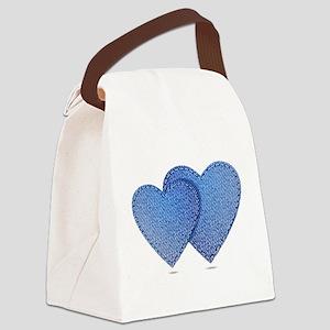 Blue Jeans love Canvas Lunch Bag