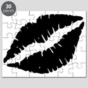 Black Lips Kiss Puzzle