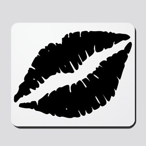 Black Lips Kiss Mousepad