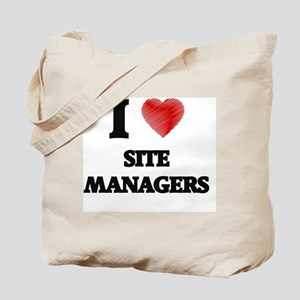I love Site Managers (Heart made from wor Tote Bag