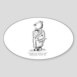 Hercule Purr-ot, Cat Detective Sticker