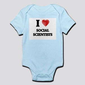 I love Social Scientists (Heart made fro Body Suit