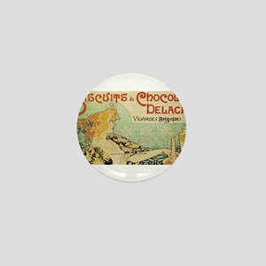 Vintage poster - Biscuits and Chocolat Mini Button