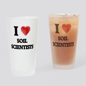 I love Soil Scientists (Heart made Drinking Glass