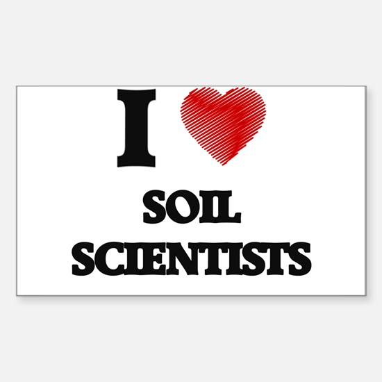 I love Soil Scientists (Heart made from wo Decal