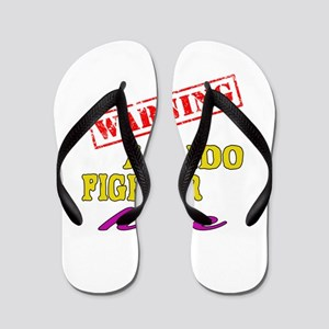 Warning Aikido Fighter Here Flip Flops