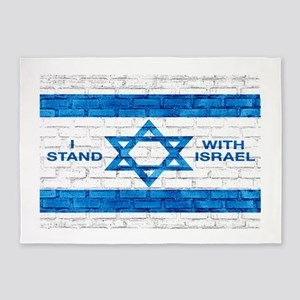 I Stand With Israel 5'x7'Area Rug