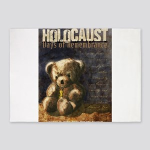Holocaust Remembrance Day 5'x7'Area Rug