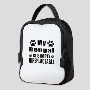 My Bengal cat is simply irrepla Neoprene Lunch Bag
