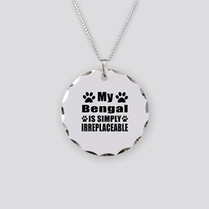 My Bengal cat is simply irre Necklace Circle Charm