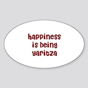 happiness is being Yaritza Oval Sticker
