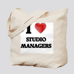 I love Studio Managers (Heart made from w Tote Bag